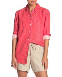 Tommy Bahama Sea Glass Breezer Linen Boyfriend Shirt - Pink