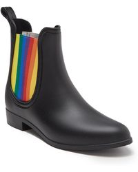 Catherine Malandrino Tabby Rainbow Rain Boot - Black