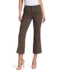Level 99 Heather Trouser Kick Flare Pants - Multicolour