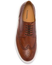 Magnanni Rossi Leather Derby Sneaker - Brown
