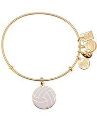 ALEX AND ANI - Team Usa Volleyball Expandable Wire Charm Bracelet - Lyst