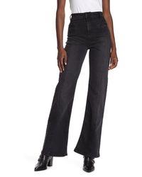 Free People Firecracker Flare Leg Jeans - Black