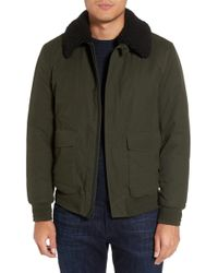 Calibrate - Flight Bomber Jacket With Faux Shearling Trim - Lyst
