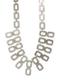 TMRW STUDIO - Antique Silver Plated Pewter Rectangular Plate Collar Necklace - Lyst