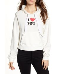Rebecca Minkoff Roxanne I Heart You Hoodie - White