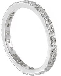CZ by Kenneth Jay Lane - Round Cz Embellished Band Ring - Lyst