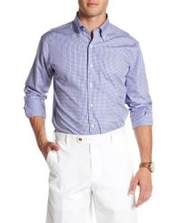 Peter Millar - Summertime Check Print Regular Fit Shirt - Lyst