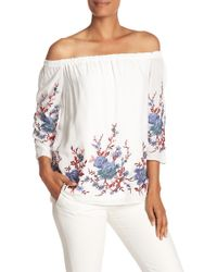 Catherine Malandrino - Off-the-shoulder Floral Blouse - Lyst