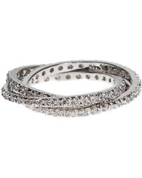 CZ by Kenneth Jay Lane - Cz Accented Interlocking Ring - Lyst