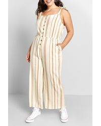 ModCloth Every Waking Momentum Jumpsuit - White