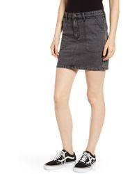 Wrangler Denim Utility Mini Skirt - Gray