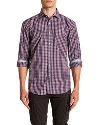 Bristol & Bull - Check Long Sleeve Sport Fit Shirt - Lyst