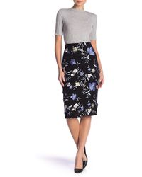 Eci - Floral Pencil Skirt - Lyst
