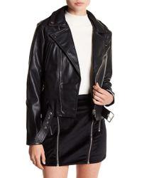 Six Crisp Days - Vegan Leather Motorcycle Jacket - Lyst