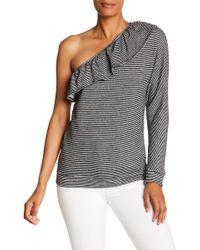 Joie - Aleesha Striped One Shoulder Top - Lyst