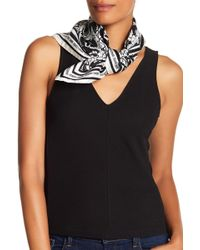 Roberto Cavalli - Abstract Patterned Silk Scarf - Lyst