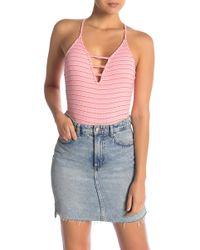 Room Service - Stripe Bodysuit (nordstrom Exclusive) - Lyst