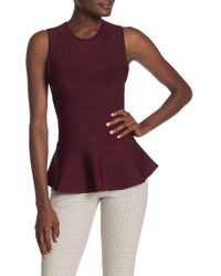 fb651889ad7 Theory Desza Belted V-neck Tank in White - Lyst