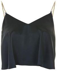 TOPSHOP Chain Strap Camisole Top - Blue