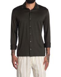 Reiss Chapter Mercerized Slim Fit Shirt - Green