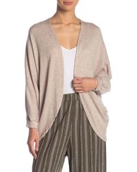 Blu Pepper - Open Front Back Button Cardigan - Lyst