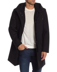 Cole Haan - Faux Shearling Lined Hooded Coat - Lyst