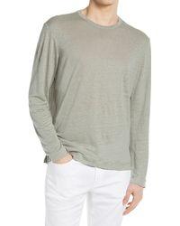 Club Monaco Linen Long Sleeve Crewneck T-shirt - Gray