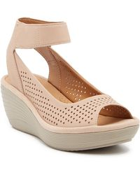 9e7e1024ad8a Clarks - Reedly Salene Wedge Sandals - Lyst