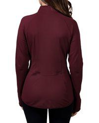 90 Degrees Flared Hem Zip Front Jacket - Purple