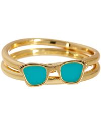 Ariella Collection - Sunglasses Stack Ring Set - Size 7 - Lyst