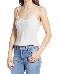 AG Jeans Scarlet Matte Satin Camisole - White