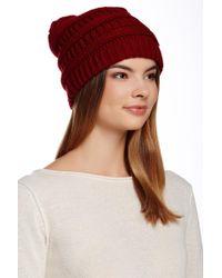 a2b7f8ef1b97a Modena - Horizontal Purl Knit Hat - Lyst