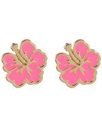 Ariella Collection - Flower Earrings - Lyst