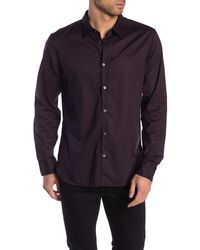 John Varvatos Diamond Print Trim Fit Sport Shirt - Blue