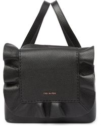 Ted Baker - Rammira Leather & Cottoned On Ruffle Convertible Lady Bag - Lyst