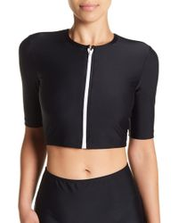 Cover - Cropped Zip Top - Lyst