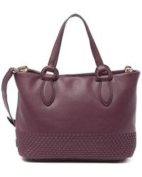 Cole Haan Bethany Small Leather Tote - Purple