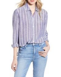 Rails Sydney Stripe Shirt - Blue