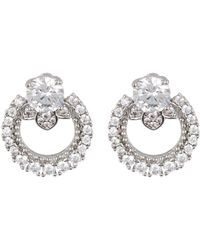 Marchesa - Cz Link Button Earrings - Lyst