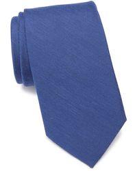 Ben Sherman Daison Silk Blend Tie - Blue