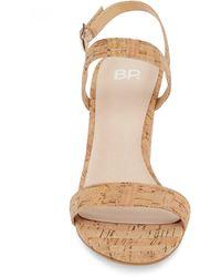BP. Lula Block Heel Slingback Sandal - Natural
