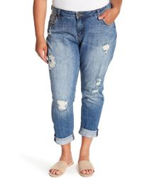 Kut From The Kloth - Catherine Distressed Boyfriend Jeans (plus Size) - Lyst