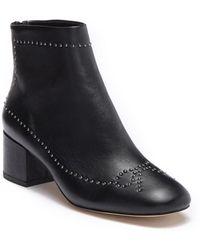 Donald J Pliner Cafne Bow Studded Leather Bootie - Black