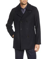 Ted Baker Westun Double Breasted Peacoat - Blue