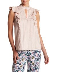 BCBGeneration - Ruffled Mock Neck Top - Lyst
