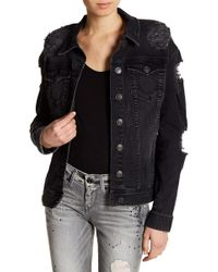 True Religion | Danni Destroyed Denim Jacket | Lyst