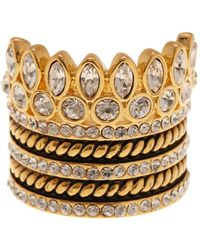 BaubleBar - Bezel Set Crystal Ring Stack - Lyst