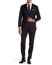 Kenneth Cole - Two Button Notch Lapel Trim Performance Wool Suit - Lyst