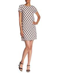 Vince Camuto - Cap Sleeve Graphic Dot Jacquard Dress - Lyst