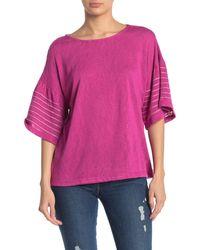 Bobeau Everleigh Stitched T-shirt - Pink